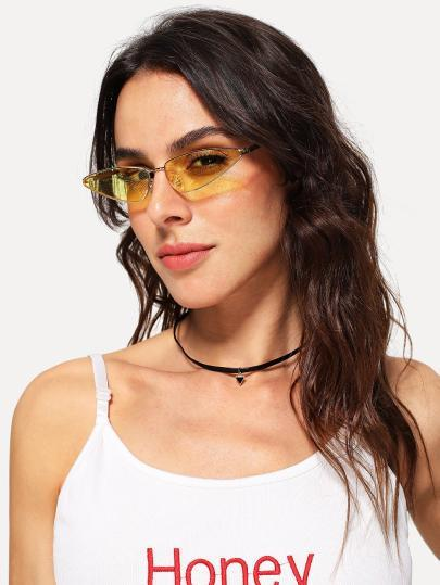 Funky retro cateye small frame sunglasses (1462468083755)