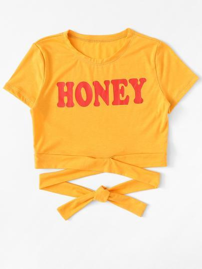 Honey lace up strap crop top
