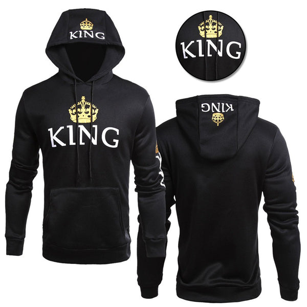 Royal collection king queen matching couples pullover hoodie sweater sweatshirt (4350262149203)