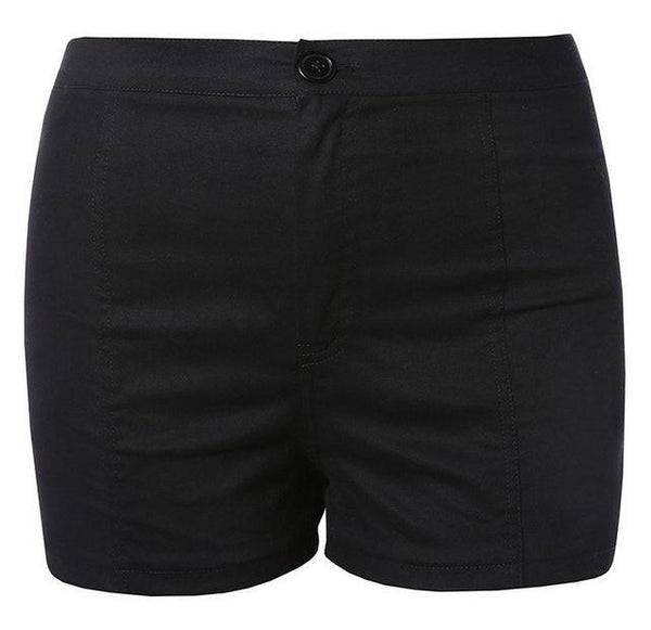 Black Lace up back shorts (1462457106475)
