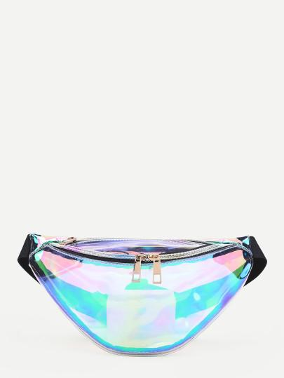 90s Clear Iridescent Fanny pack (1462501343275)