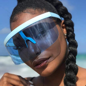 Oversize visor shield sunglasses (1689576210475)