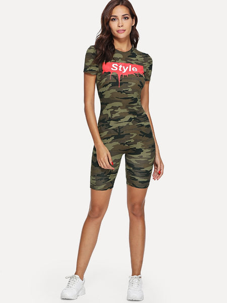 Style printed camo bodycon jumpsuit (1462456647723)