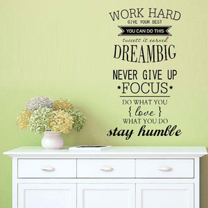 Inspirational work hard quotes wall decal sticker - Iconic Trendz Boutique (1462533685291)