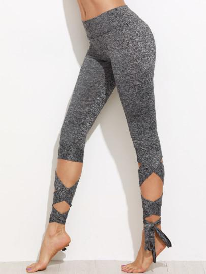 Wrap lace up fashion leggings (1462520709163)