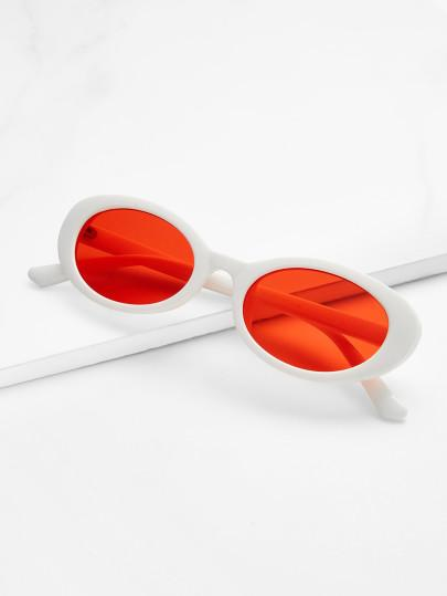 Color frame circle retro sunglasses (1462467887147)