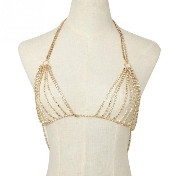 Luxury crystal Rhinestone chain bra top (1802918363179)