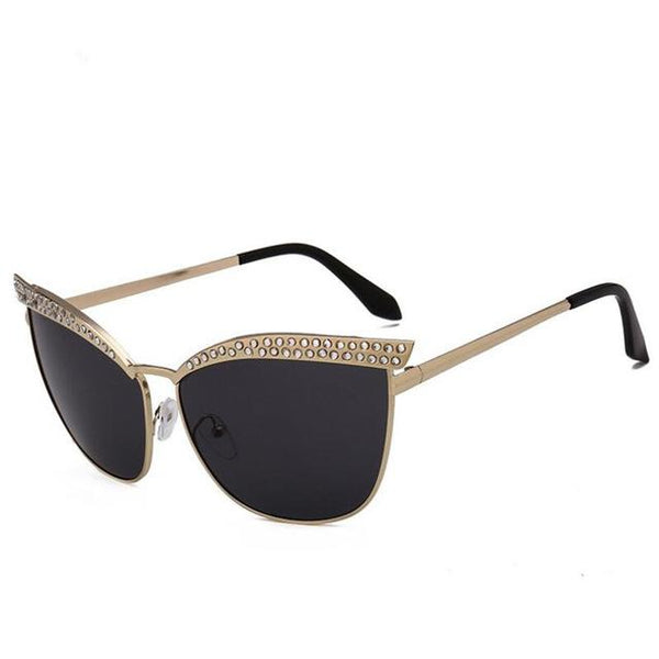 Diamond rhinestone cat eye sunglasses (1462487220267)