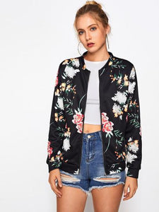 Floral passion bomber fashion jacket (1462521724971)