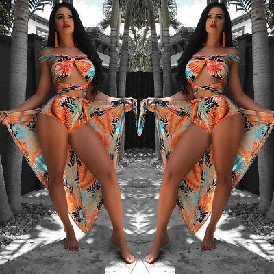 Tropical essence 3 piece bikini cover up set (1462464577579)