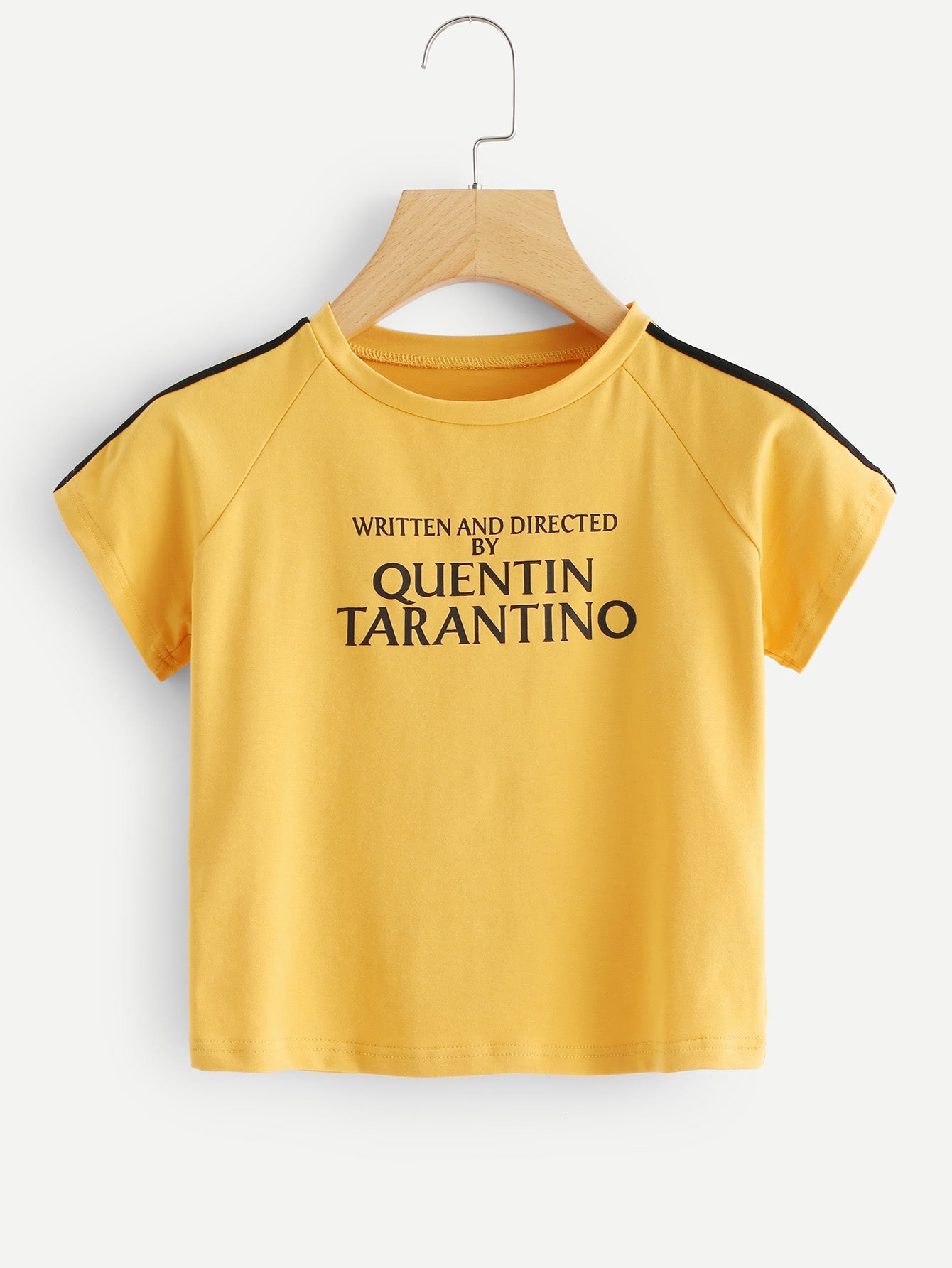 Written and directed by Quentin Tarantino crop top shirt