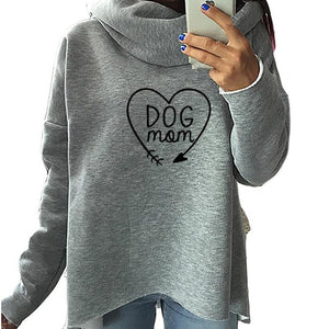 Dog mom oversize turtle neck sweater (1462476505131)