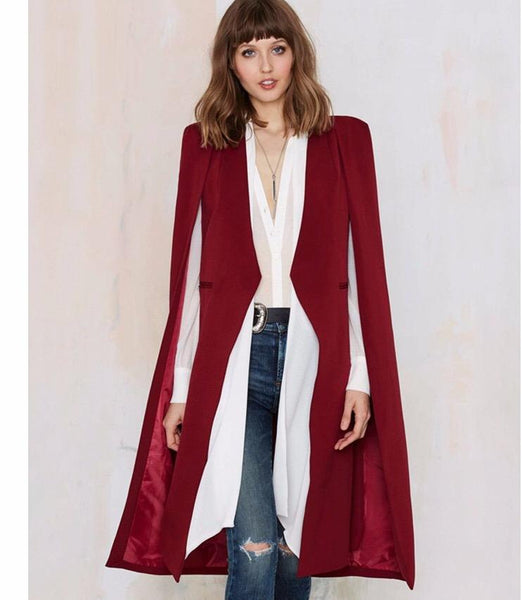 Chic open front cape cardigan jacket (1462528507947)