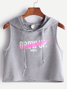 Don't Grow up it's a trap hoodie crop top (1462526476331)