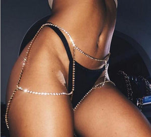 """Riri"" sexy leg body chain - Iconic Trendz Boutique (1462574776363)"