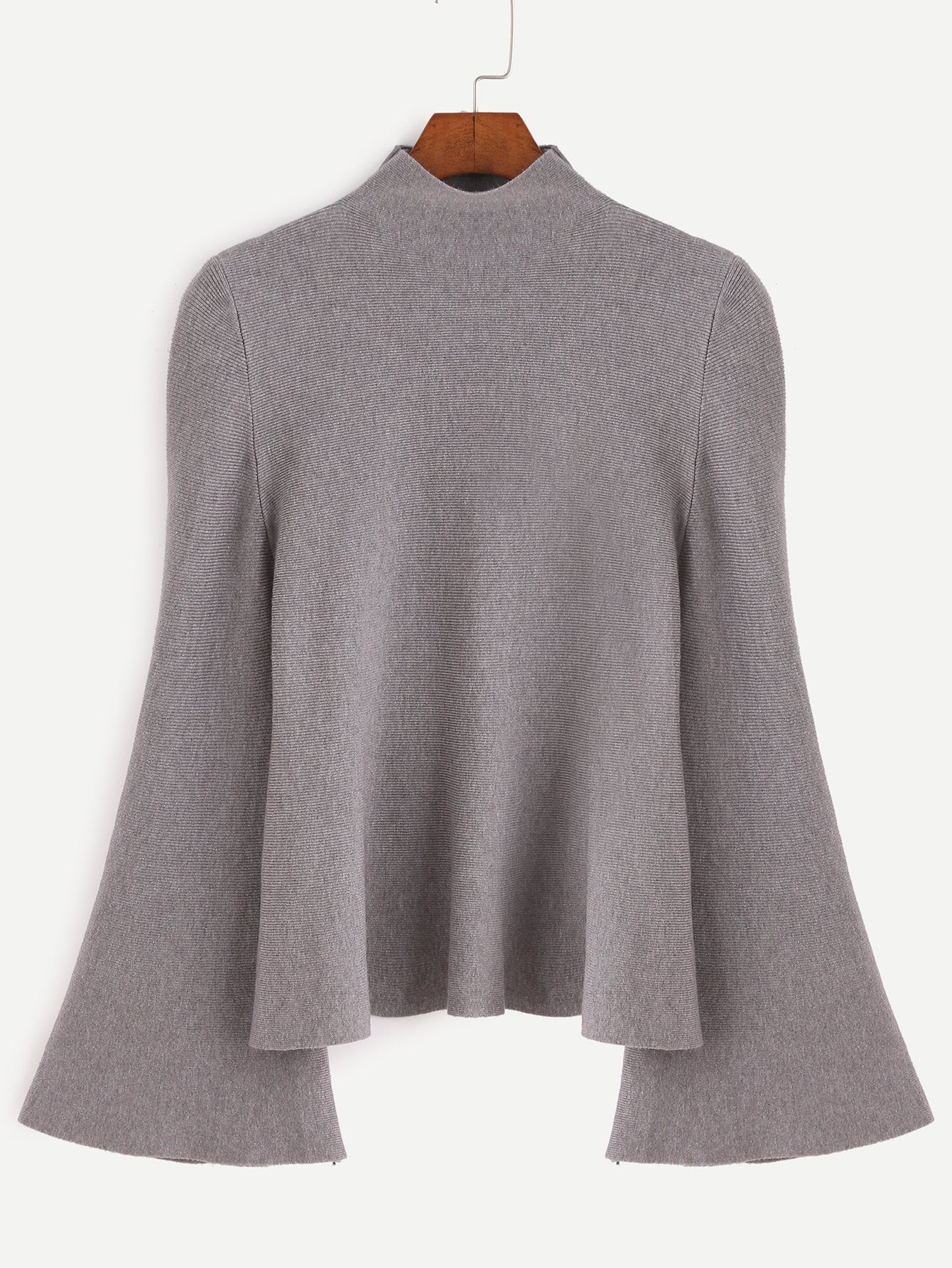 """Gypsy"" bell sleeve oversize sweater top (1462519496747)"