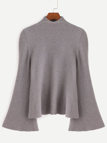 """Gypsy"" bell sleeve oversize sweater top"