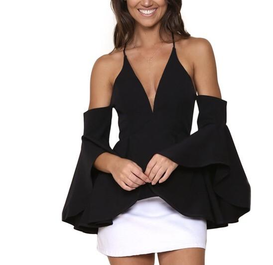 Bellair off the shoulder bell sleeve blouse - Iconic Trendz Boutique (1462572875819)