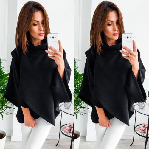 Oversize turtle neck dolman sweater top (1462515007531)