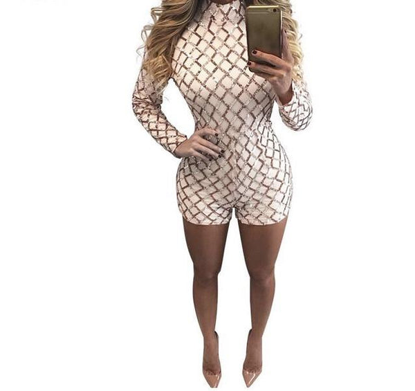 """Deposit"" gold accent short romper - Iconic Trendz Boutique (1462567567403)"