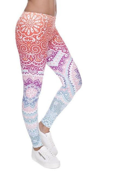 Boho festive fashion leggings - Iconic Trendz Boutique (1462566092843)