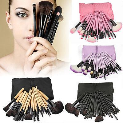 Iconic beauty 32pcs makeup brush set with free case - Iconic Trendz Boutique (1462565503019)
