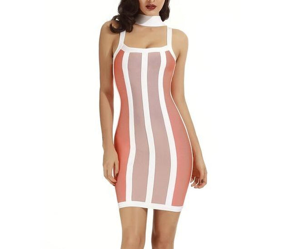 """lucky"" choker bandage bodycon dress - Iconic Trendz Boutique (1462564618283)"