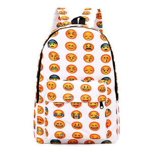 All over cool Emoji fashion school backpack book bag - Iconic Trendz Boutique (1462564421675)