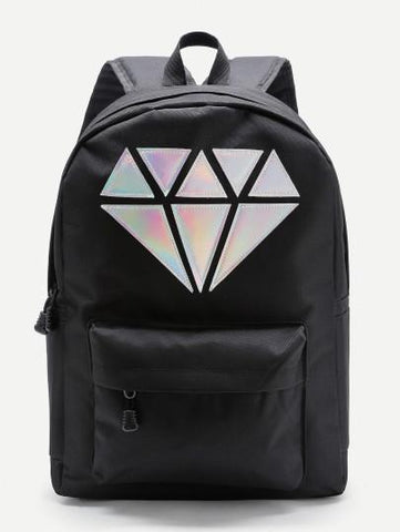 3D Diamond backpack - Iconic Trendz Boutique (1462561505323)