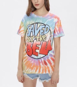 Saved by the bell tie dye retro tshirt - Iconic Trendz Boutique (1462560981035)