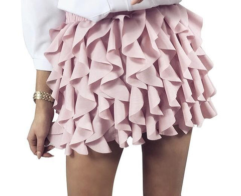 Salsa ruffle detail fashion mini skirt - Iconic Trendz Boutique (1462553968683)