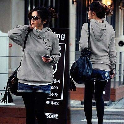 Ladies trendy warm high neck pullover sweater  hoodie - Iconic Trendz Boutique (1462547611691)