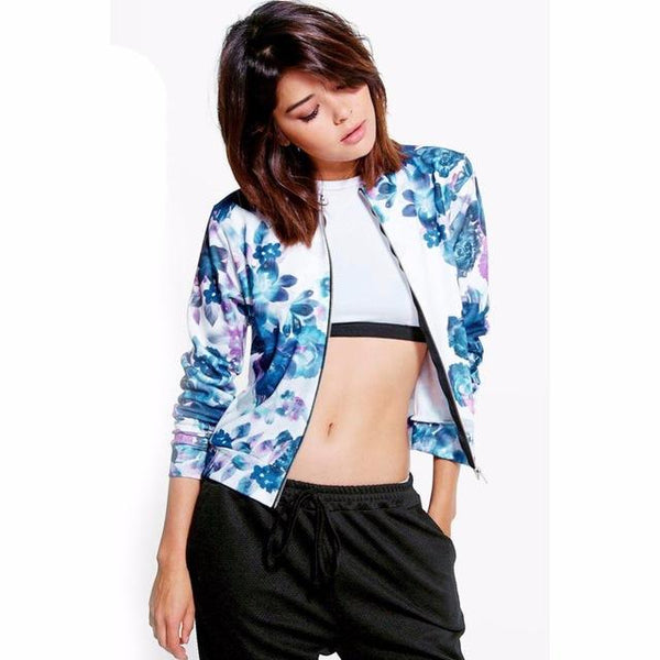 Floral Hawaiian Style Jacket - Iconic Trendz Boutique (1462545514539)