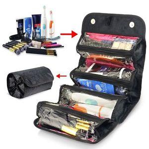 Multifunction Roll or Hang Compact Organizer Makeup Toiletry Travel Bag (1462534733867)