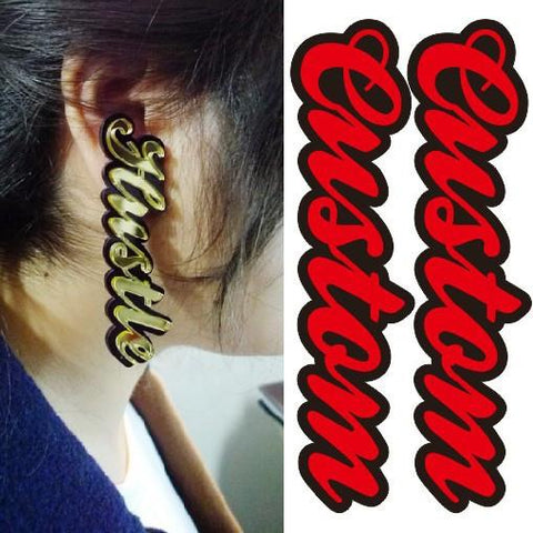 Custom name earrings - Iconic Trendz Boutique (1462577856555)
