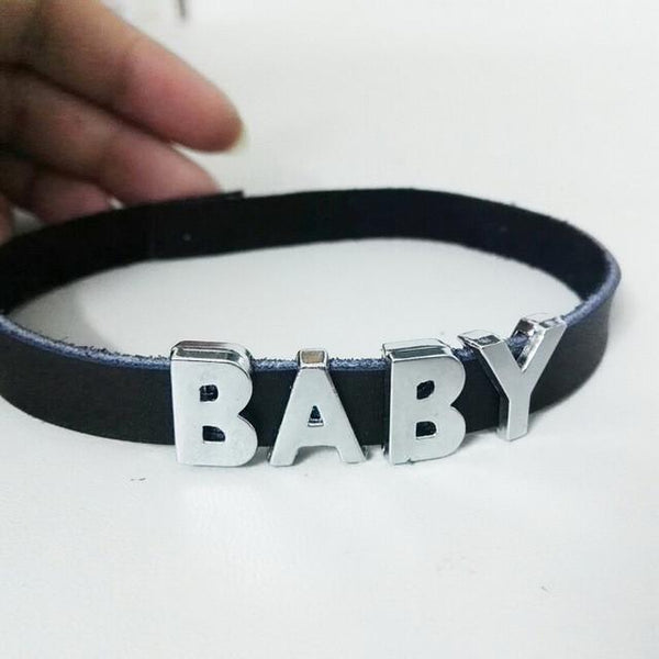 Custom name choker necklace - Iconic Trendz Boutique (1462577725483)