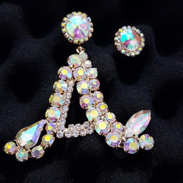 Glitz n Glam custom initial earring - Iconic Trendz Boutique (1462577659947)