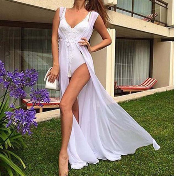 """Island vibes only"" bikini swimwear coverup maxi dress - Iconic Trendz Boutique (1462576480299)"