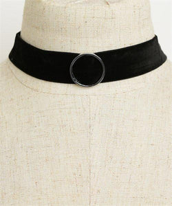 Retro Circle Detail Choker Necklace - Iconic Trendz Boutique (1462581198891)