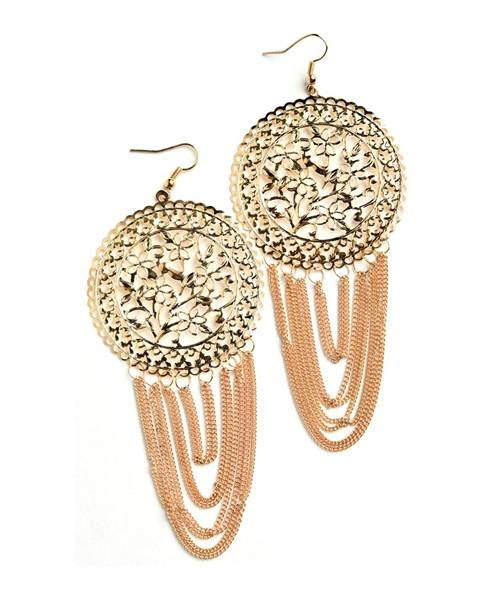 Chain loop fashion earrings - Iconic Trendz Boutique (1462581067819)