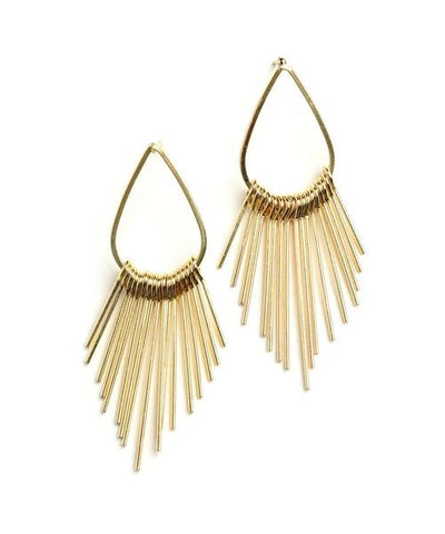 Tear Drop Spiked tassel earrings - Iconic Trendz Boutique (1462582673451)
