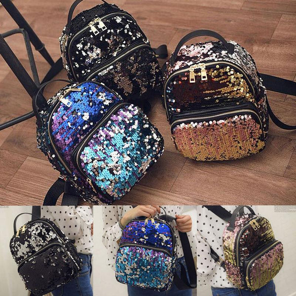 Glam Sequins Fashion Backpack Bag - Iconic Trendz Boutique (1462563176491)