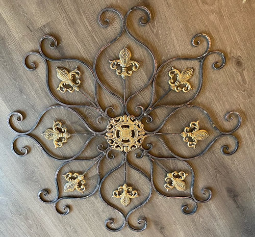 Fleur De Lis Metal Wall Art - The Reclaimed Treasures LLC