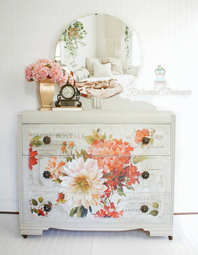 Floral Chest of Drawers - The Reclaimed Treasures LLC