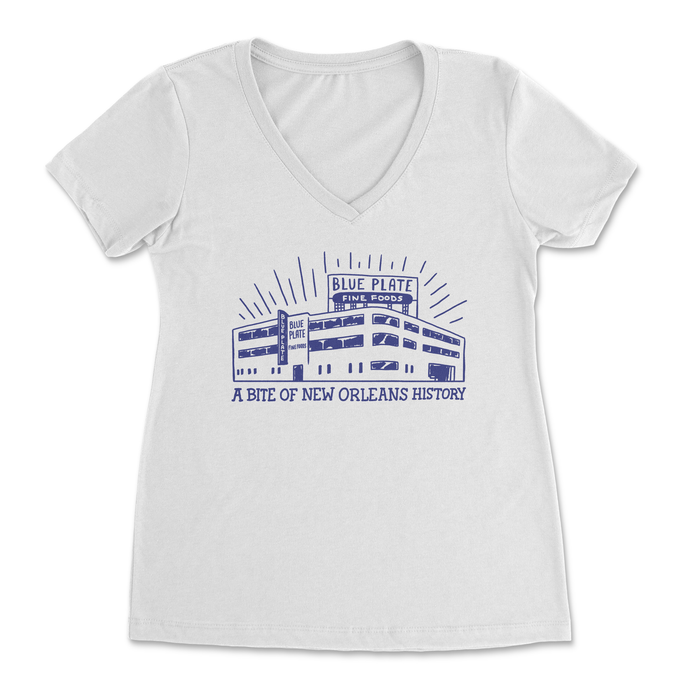 Blue Plate Factory Sketch Women's V-Neck