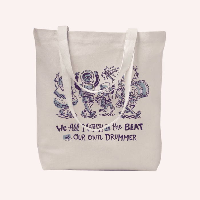 March To Your Own Dummer Tote