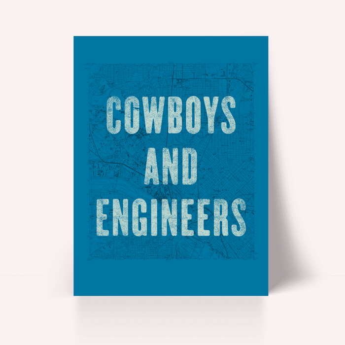 Cowboys and Engineers Poster