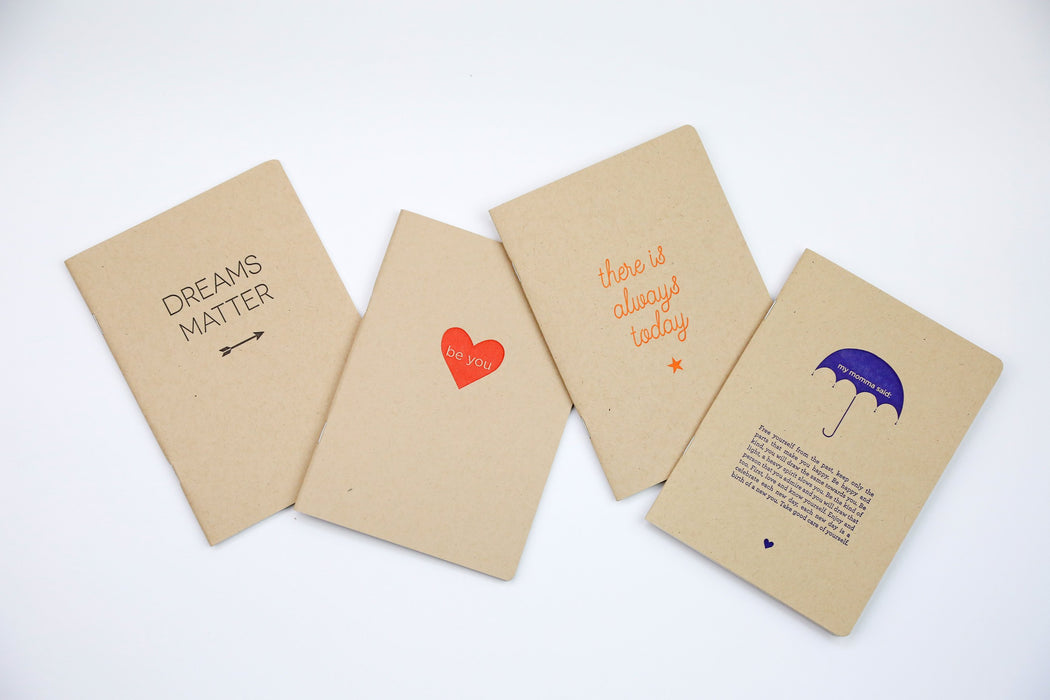 Dreams Matter - 100% Recycled Letterpress Notebook