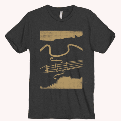 Make Music NOLA Black & Gold Tee