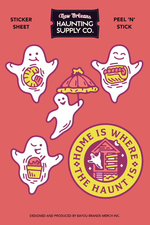 Haunting Supply Sticker Sheet Side 1